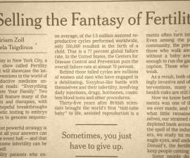 Fertility Industry Critique